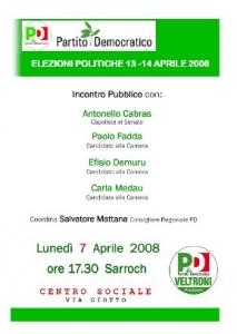 7 Aprile 2008 - Incontro pubblico a Sarroch