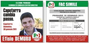 Efisio Demuru candidato alle Primarie per Capoterra 2011 - Come si vota?