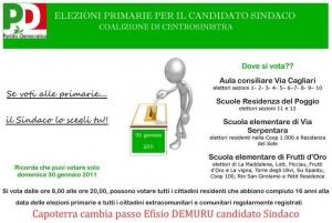 Efisio Demuru candidato alle Primarie per Capoterra 2011 - Dove si vota?